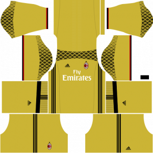 Dream League Soccer DLS 512×512 AC Milan GoalKeeper Away Kits
