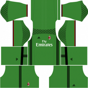 Dream League Soccer DLS 512×512 AC Milan GoalKeeper Home Kits