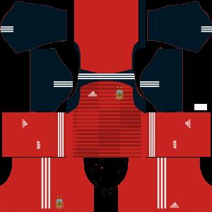 Dream League Soccer DLS 512×512 Argentina GoalKeeper Home Kits