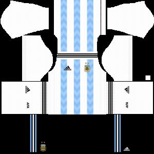 Dream League Soccer DLS 512×512 Argentina Home Kits