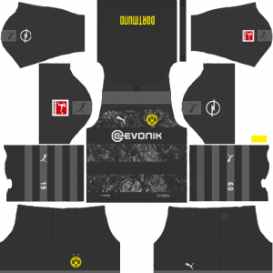 Dream League Soccer DLS 512×512 Borussia Dortmund Away Kits