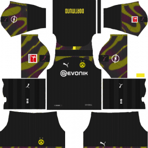 Dream League Soccer DLS 512×512 Borussia Dortmund GoalKeeper Away Kits