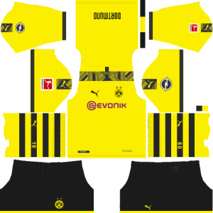 Dream League Soccer DLS 512×512 Borussia Dortmund Home Kits