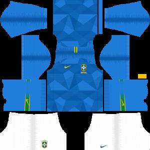 Dream League Soccer DLS 512×512 Brazil Away Kits