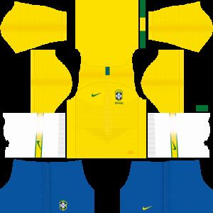 Dream League Soccer DLS 512×512 Brazil Home Kits
