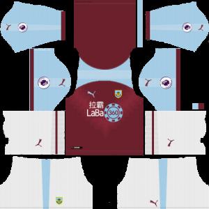 Dream League Soccer DLS 512×512 Burnley Home Kits