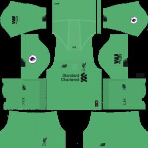 Dream League Soccer DLS 512×512 Liverpool GoalKeeper Home Kits