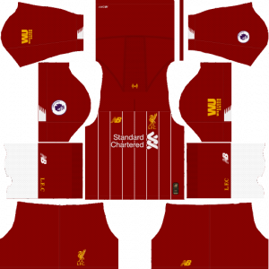 Dream League Soccer DLS 512×512 Liverpool Home Kits