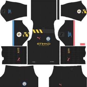 Dream League Soccer DLS 512×512 Manchester City Away Kits