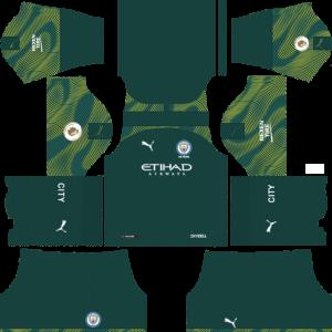 Dream League Soccer DLS 512×512 Manchester City GoalKeeper Home Kits