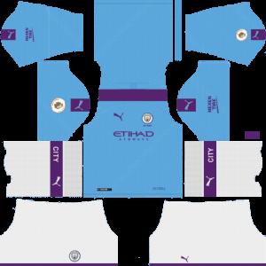 Dream League Soccer DLS 512×512 Manchester City Home Kits