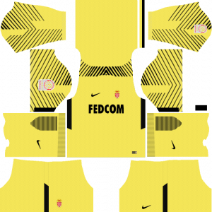 Dream League Soccer DLS 512×512 AS Monaco GoalKeeper Away Kits