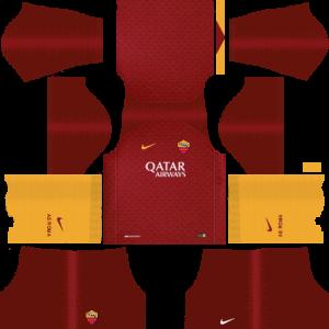 Dream League Soccer DLS 512×512 AS Roma Home Kits