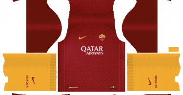 Dream-League-Soccer-DLS-512×512-AS-Roma-Home-Kits