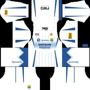 Dream League Soccer DLS 512×512 Persib Bandung Away Kits