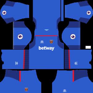 Dream League Soccer DLS 512×512 West Ham United GoalKeeper Away Kits