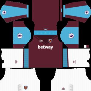 Dream League Soccer DLS 512×512 West Ham United Kits