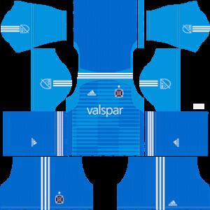 Dream League Soccer DLS 512×512 Chicago Fire GoalKeeper Home Kits