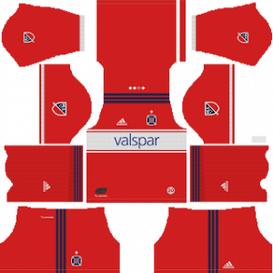 Dream League Soccer DLS 512×512 Chicago Fire Home Kits