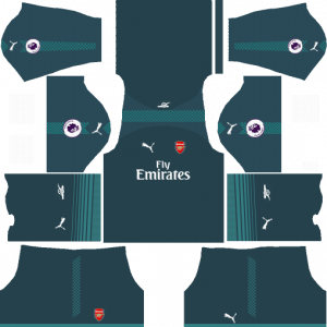 Dream League Soccer DLS 512×512 Arsenal GoalKeeper Home Kits