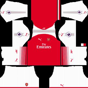 Dream League Soccer DLS 512×512 Arsenal Home Kits
