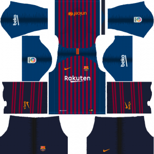 Dream League Soccer DLS 512×512 Barcelona Kits Home Kits