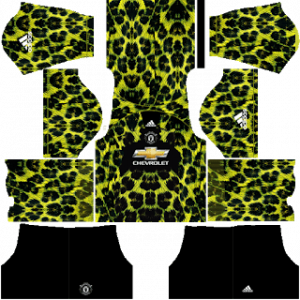 Dream League Soccer DLS 512×512 Manchester United GoalKeeper Home Kits