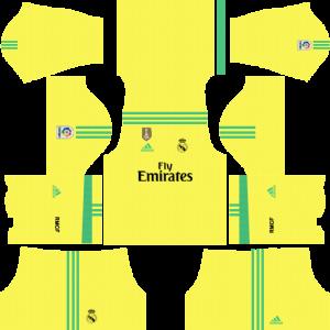 Dream League Soccer DLS 512×512 Real Madrid GoalKeeper Third Kits