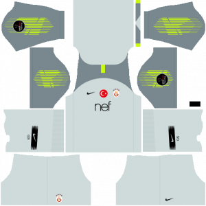Dream League Soccer DLS 512×512 Galatasaray GoalKeeper Away Kits