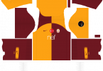 Dream League Soccer DLS 512×512 Galatasaray Home Kits