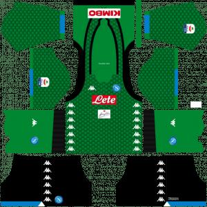 Dream League Soccer DLS 512×512 Napoli Kits GoalKeeper Home Kits