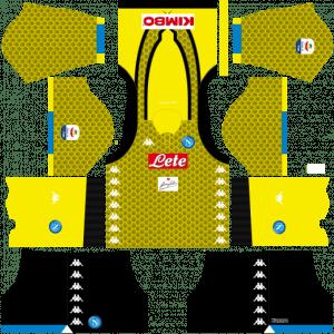 Dream League Soccer DLS 512×512 Napoli Kits GoalKeeper Third Kits