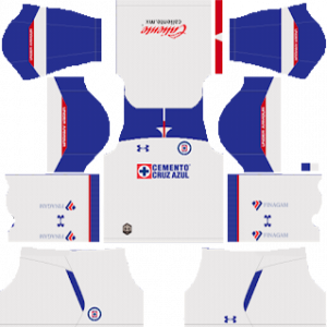 Dream League Soccer DLS 512×512 Cruz Azul Away Kits