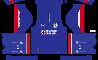 Dream League Soccer DLS 512×512 Cruz Azul Home Kits