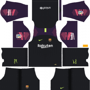 DLS Barcelona Goal Keeper Home Kits