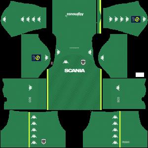 Dream League Soccer DLS 512×512 Angers SCO GoalKeeper Away Kits