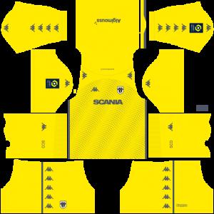 Dream League Soccer DLS 512×512 Angers SCO GoalKeeper Home Kits