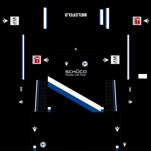 Dream League Soccer DLS 512×512 Arminia Bielefeld Home Kits