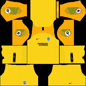 Dream League Soccer DLS 512×512 Brighton FC GoalKeeper Away Kits