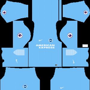 Dream League Soccer DLS 512×512 Brighton FC GoalKeeper Home Kit