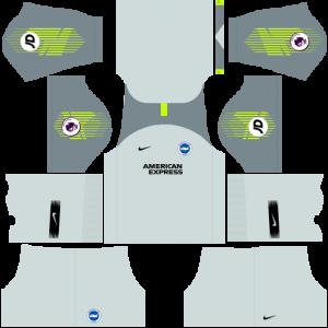 Dream League Soccer DLS 512×512 Brighton FC GoalKeeper Third Kits