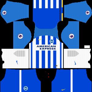 Dream League Soccer DLS 512×512 Brighton FC Home Kits