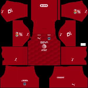 Dream League Soccer DLS 512×512 CF Monterrey GoalKeeper Away Kits