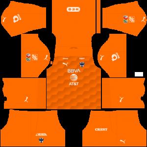 Dream League Soccer DLS 512×512 CF Monterrey GoalKeeper Home Kits