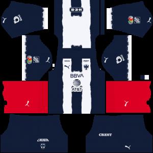 Dream League Soccer DLS 512×512 CF Monterrey Home Kits