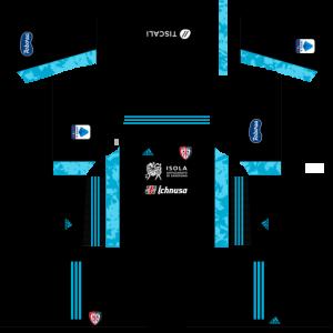 Dream League Soccer DLS 512×512 Cagliari Calcio GoalKeeper Home Kits