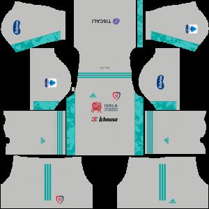 Dream League Soccer DLS 512×512 Cagliari Calcio GoalKeeper Third Kits