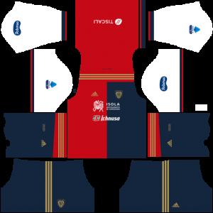 Dream League Soccer DLS 512×512 Cagliari Calcio Home Kits