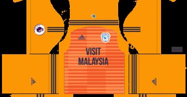 Dream League Soccer DLS 512×512 Cardiff City FC GoalKeeper Away Kits