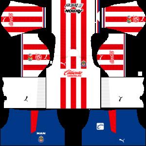 Dream League Soccer DLS 512×512 Chivas De Guadalajara Home Kits